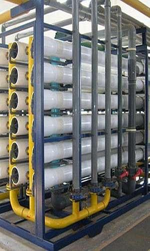 Tratamento de água de caldeira de alta pressão